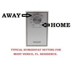 Humidistat Setting in Venice Fl